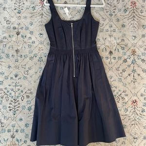 Jcrew size 4 tall navy dress